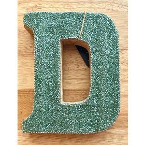 Decorative Alphabet Beaded Letter D Book End Decor